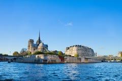 Island Isle de la Cite, Paris, France Royalty Free Stock Photos