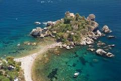 Island Isola Bella. Romantic island Isola Bella in Taormina bay, Sicily royalty free stock photos