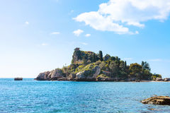 Island Isola Bella in Ionian Sea near Taormina Royalty Free Stock Image