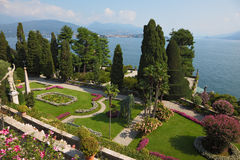 The island of Isola Bella.Lake Maggiore Stock Image