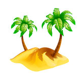 Island isolate Royalty Free Stock Images