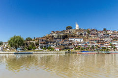 The island of Janitzio. View of the Island of Janitzio, Mexico from Lake Patzcuaro Royalty Free Stock Images