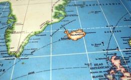 Island-Karte lizenzfreie stockfotografie