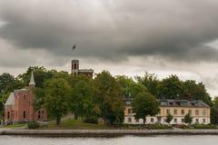 Island of Kastellbacken in Stockholm. Royalty Free Stock Photos