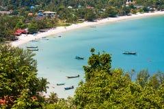 Island Koh Phangan, Thailand. Tropical island Koh Phangan, Thailand. Top view royalty free stock image
