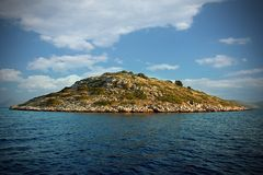 Island on Kornati in Croatia royalty free stock image