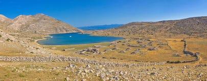 Island of Krk yachting bay Stock Photo