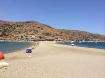 Island Kythnos a beach to travel there Royalty Free Stock Image