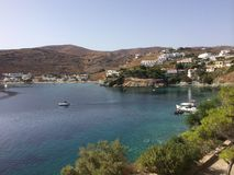 Island Kythnos a place to travel there Stock Images