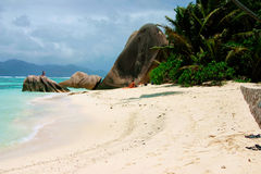 The island La Digue Stock Images