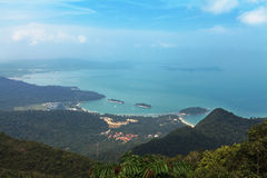 Island Lagnkavi... View of the east coast of the island of Langkawi Royalty Free Stock Image