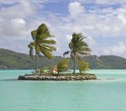 Island on the lagoon Stock Photography