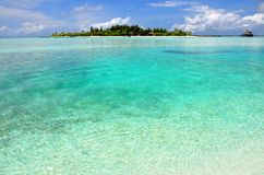 Island in the lagoon of the Maldives Royalty Free Stock Images