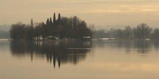 Island on a lake Royalty Free Stock Photo