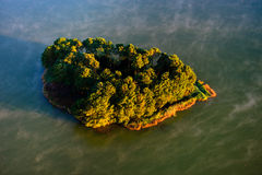 Island in a lake Royalty Free Stock Image