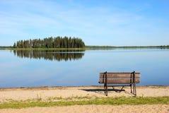 Island in the lake Stock Photos