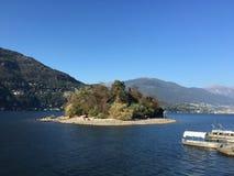 Island. In the lake, beautiful scenery, paradisiacal views Royalty Free Stock Photos