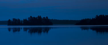Island Lake in Blue Stock Photography