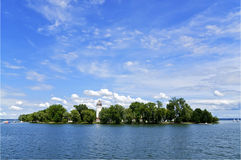 Island on Lake Chiemsee. Fraueninsel Island on Lake Chiemsee in the Bavarian Alps Stock Photos