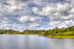 Island in lake Ladoga Stock Images