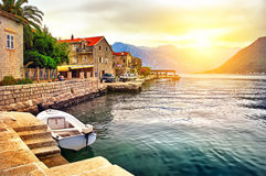 Island on the lake in Montenegro Royalty Free Stock Photography