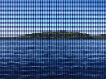 Island in the Lake mosaic Royalty Free Stock Images