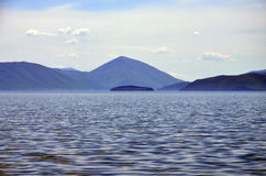 Island on Lake Prespa Macedonia Stock Photos