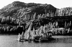Island Lake. In The Sierra Nevadas Royalty Free Stock Photo