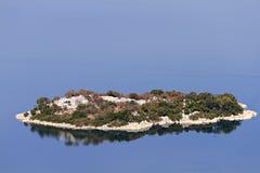 Island of lake Skadar in Montenegro Royalty Free Stock Images