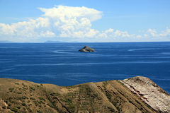 Island and lake Titicaca Stock Photo