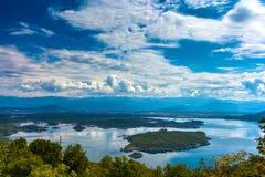 Slansko lake, Niksic, at the foot of Mount Trebjesa, Montenegro. Stock Photos