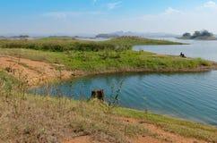 Island and lake viewpoint. Stock Photos
