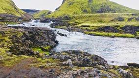 Island land av is och brand! royaltyfria foton