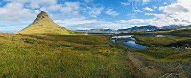 Island land av is och brand! arkivfoton