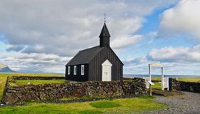 Island land av is och brand! royaltyfria bilder