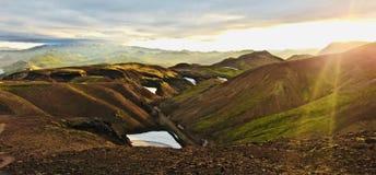 Island, Land des Eises und des Feuers! lizenzfreies stockbild