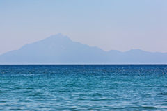 Island in distance. Island seen in distance from sea level Stock Photography