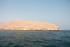 Island. Land mass in the gulf of oman Royalty Free Stock Photos