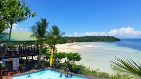 Island Landscape Bay Beach Resort royalty free stock photos