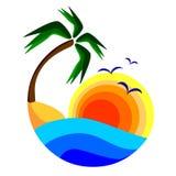 Island landscape Stock Images