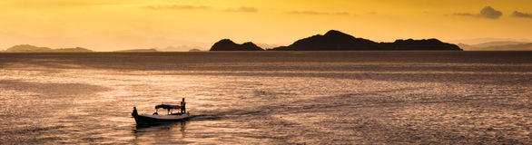 Island landscape at sunset Royalty Free Stock Image
