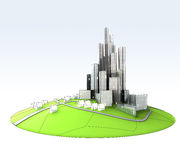 Island landscape of sustainable city development Stock Photography