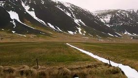 Island-Landschaft vom Auto stock video footage