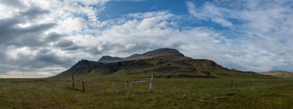 Island-Landschaftpanorama Stockbild