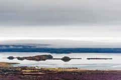 Island landskap royaltyfria bilder