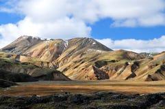 Island landskap, Landmannalaugar Royaltyfri Foto