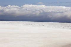Island landskap Sydostligt område Skalafelllsjokull glaciär royaltyfri foto