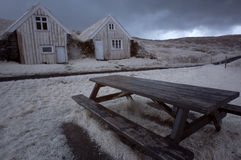 Island lantligt hus Arkivfoton