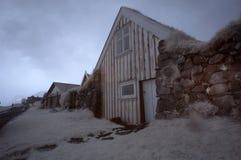 Island lantligt hus Royaltyfria Foton