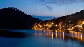Island Lastovo by night Stock Photos